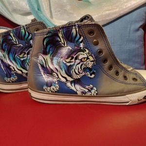 Ed Hardy sneakers converse. Unisex mens 8